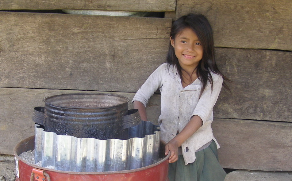 Girl with Stove